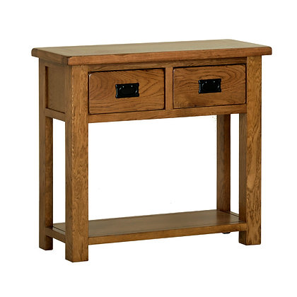 Oak 2 - 2 Drawer Console Table