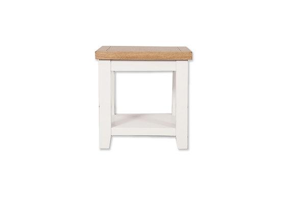 Arctic White & Oak - Lamp Table