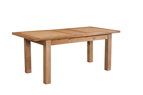 Oak 4 - Dining Table With 1 Extension 120-153 X 80