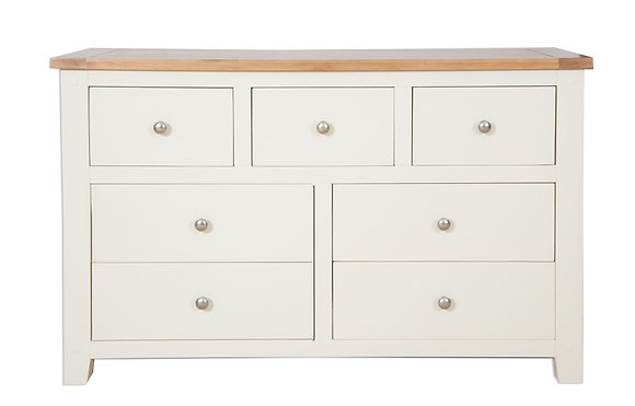 Ivory & Oak - 7 Drawer Wide Chest