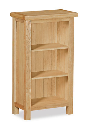 Oak 87 - Low Narrow Bookcase