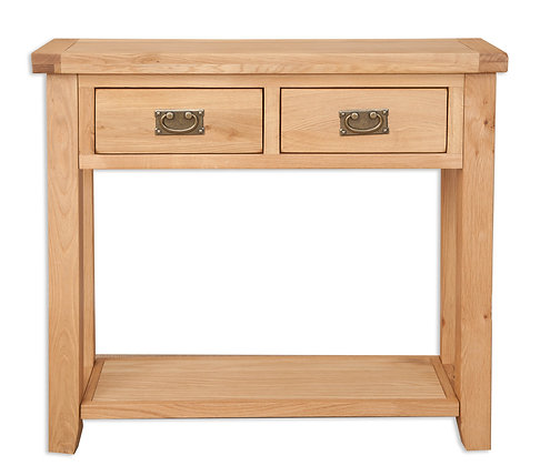 Natural Oak - 2 Drawer Console Table
