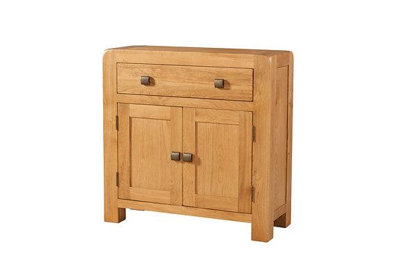 Oak 6 - Compact Sideboard 1 Drawer 2 Door