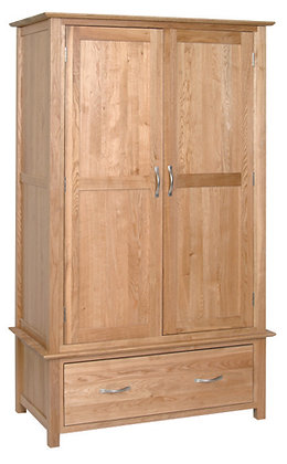 Oak 1 - Gents 1 Drawer Wardrobe