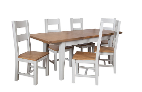 Grey & Oak - 1.6M Extending Dining Table