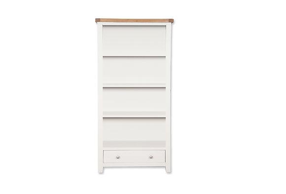 Arctic White & Oak - Large Bookcase