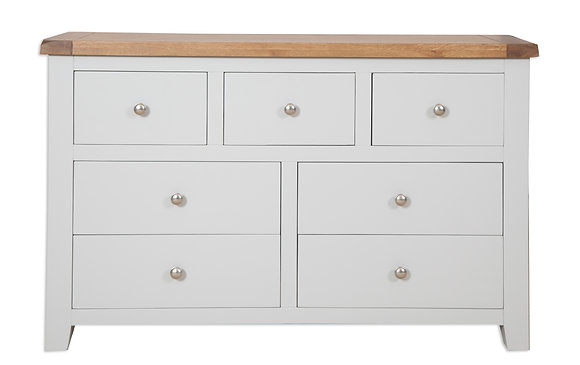 Grey & Oak - 7 Drawer Wide Chest