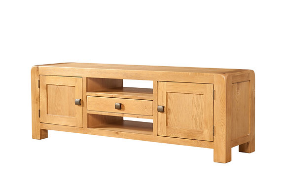 Oak 6 - Wide Tv Unit