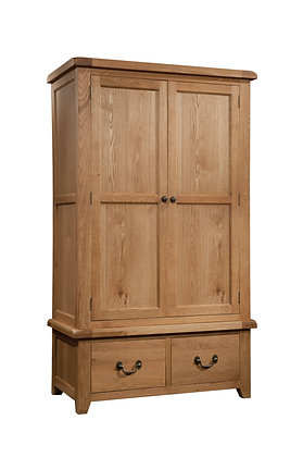 Oak 3 - Gents Wardrobe With 2 Drawers