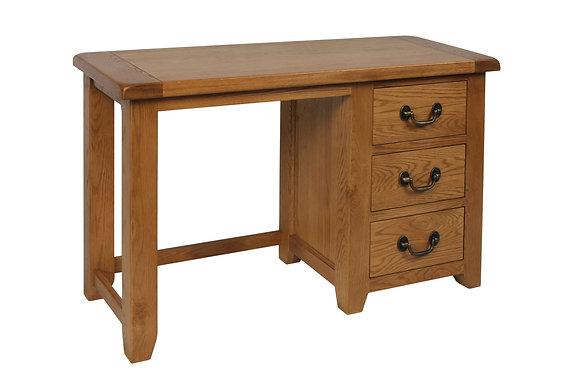 Oak 3 - Single Pedestal Dressing Table+Stool