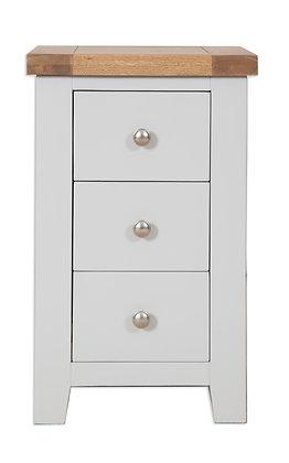 Grey & Oak - 3 Drawer Bedside