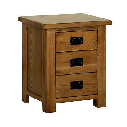 Oak 2 - 3 Drawer Bedside