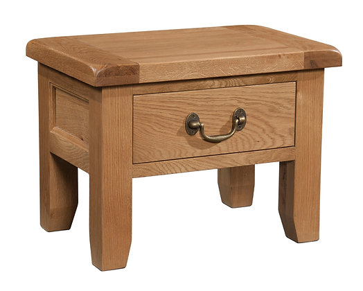 Oak 3 - Side Table With Drawer