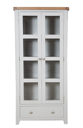 Grey & Oak - Display Cabinet