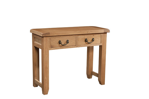 Oak 3 - 2 Drawer Console Table