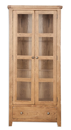 Country Oak - Display Cabinet