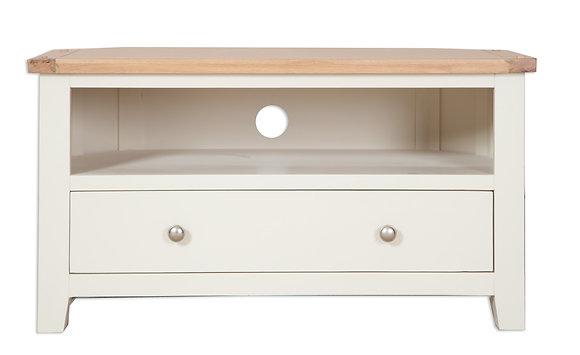 Ivory & Oak - Corner Tv Cabinet