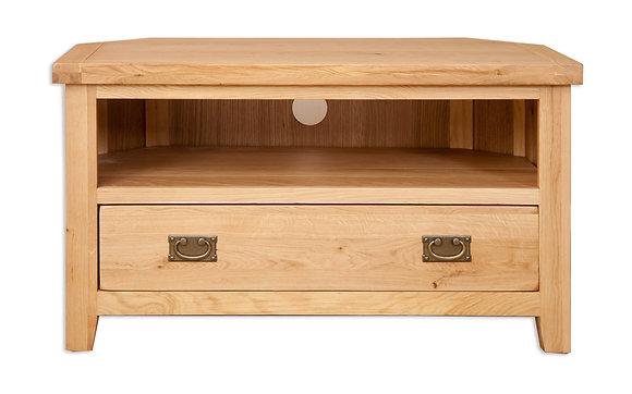 Natural Oak - Corner Tv Cabinet