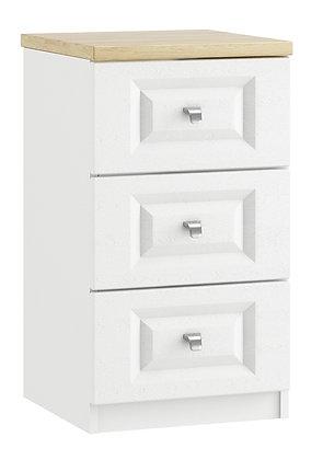 Sorrento - 3 Drawer Bedside