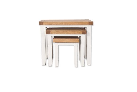 Arctic White & Oak - Nest Of Tables