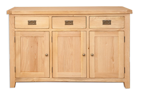 Natural Oak - 3 Door Sideboard