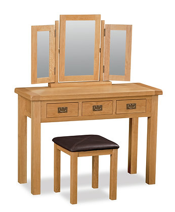 Oak 27 - Wide Dressing Table