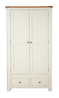 Ivory & Oak - 2 Door 2 Drawer Wardrobe