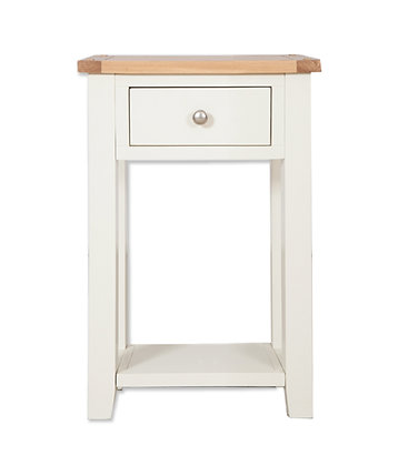 Ivory & Oak - 1 Drawer Console Table
