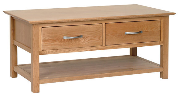 Oak 1 - Coffee Table With Drawers