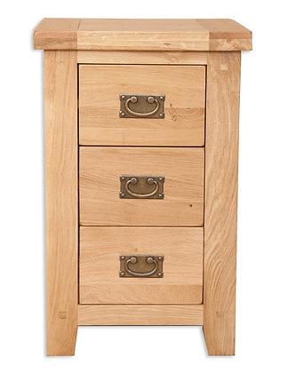 Natural Oak - 3 Drawer Bedside