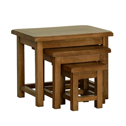 Oak 2 - Small Nest Of Tables
