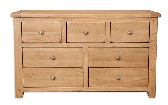 Country Oak - 7 Drawer Wide Chest