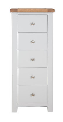Grey & Oak - 5 Drawer Tall Chest