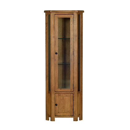 Oak 2 - Corner Display Cabinet