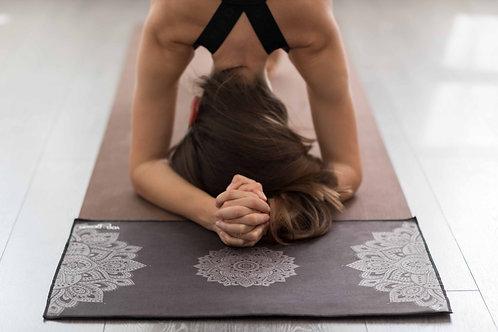 Yoga Hand Towel - Mandala Black