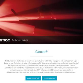 Cameo Brand Website 2