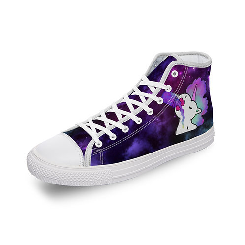 Galaxy Canvas High Top Sneakers