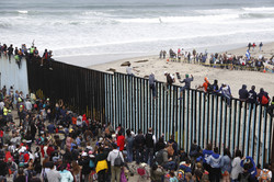 Caravan at Tijuana
