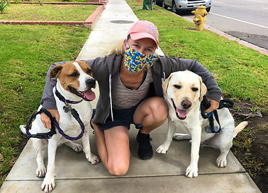 Christine Torreele with dogs, Harley & T
