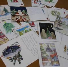 Letters from Cumnor Primary school children who also made some of the decorations