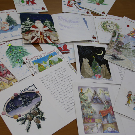 Letters from children from Cumnor Primary School who also made some of the decorations