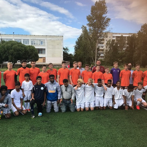 The boys from East Oxford United Football Club in Perm, August 2017