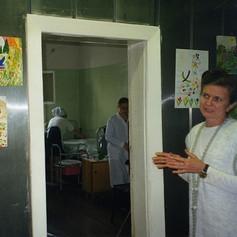 Natalia Pereverseva - first Perm Hospice, c 1993