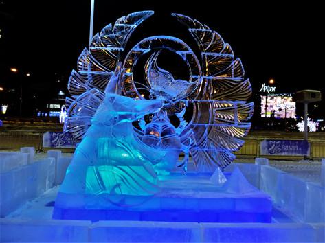 Ice scultpures photo Maksim Oborin