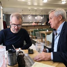 Marcus Ferrar with Vadim Skovorodin, editor of 'Business Class' newspaper