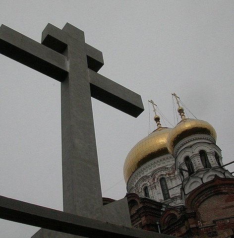 The Cross outside the Belogorsky Monastery and Church
