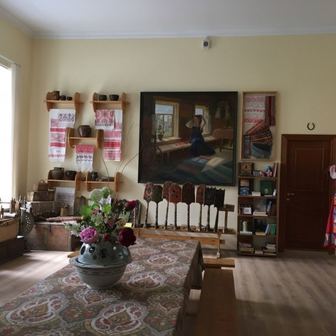 Craft exhibition inside Diaghilev's house