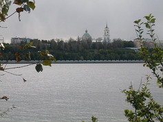 Looking across the Kama River at the Perm Art Gallery