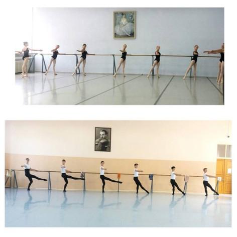 Students at Perm International Ballet School