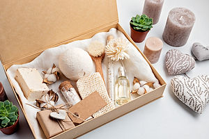 Preparing self care package, seasonal gi